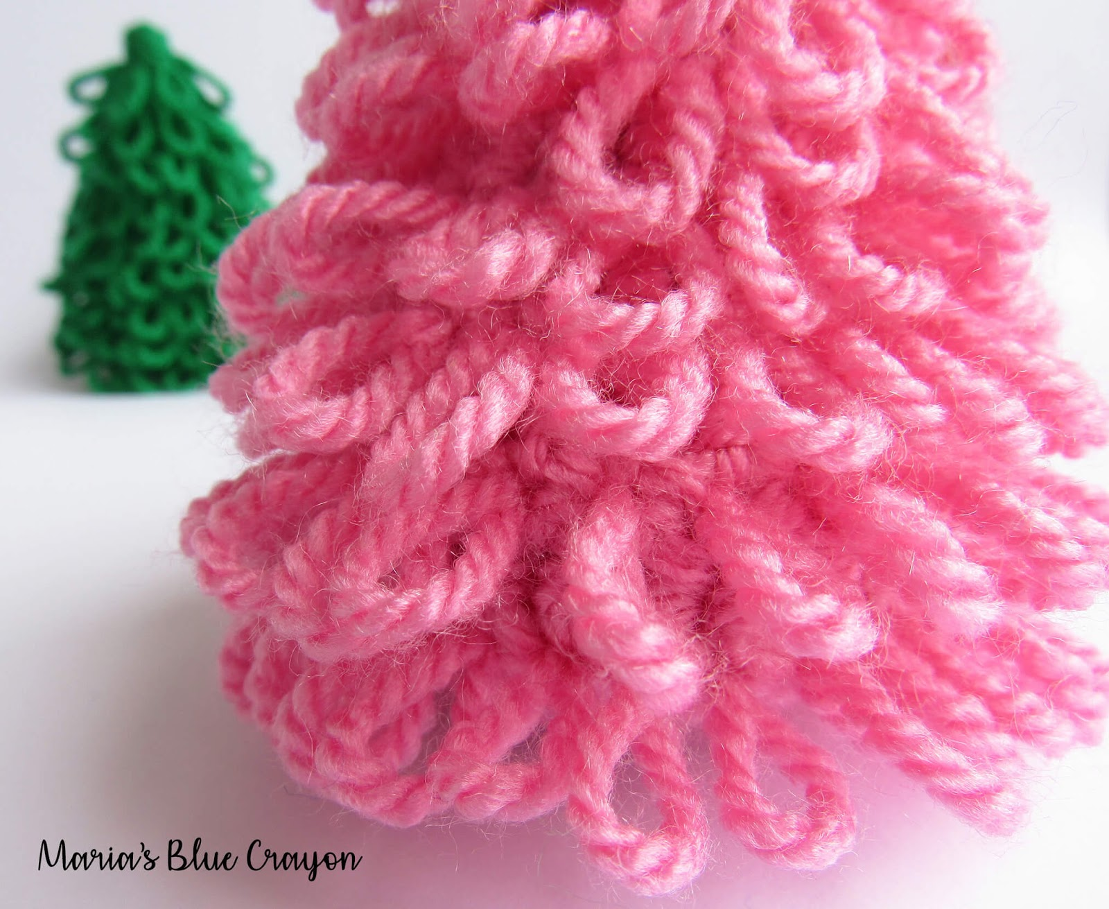 Crochet Mini Christmas Tree For Decoration