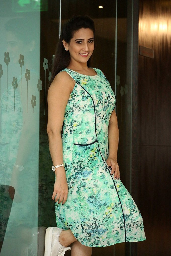 TV Anchor Manjusha At Vaisakham Movie Triple Platinum Disc Function