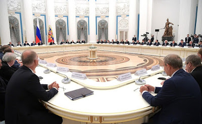 Vladimir Putin held a meeting with Russian business community representatives.