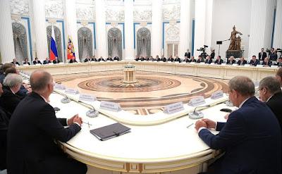 Vladimir Putin held a meeting with Russian business community representatives.