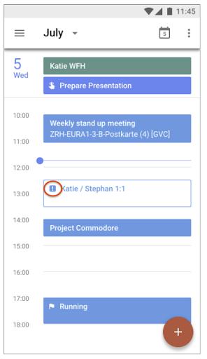 Imagen donde se muestra el indicador visual para notificar que todos los participantes rechazaron la reunión