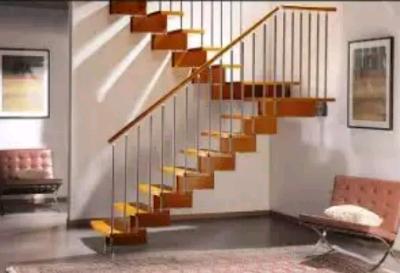 model tangga berkelok untuk ruang tengah