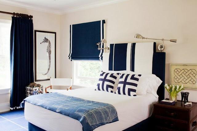 Nautical themed bedroom by Amanda Nisbet