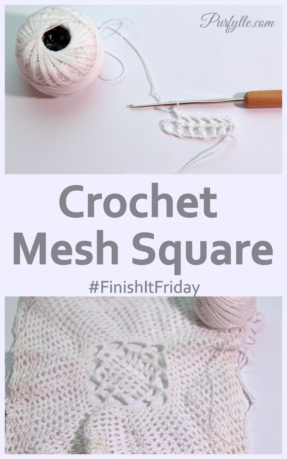 Crochet Mesh Square - #FinishItFriday