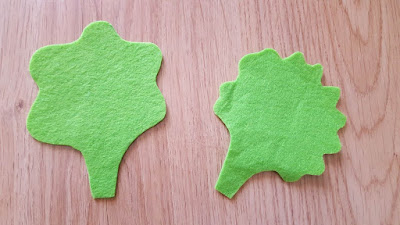 DIY Play Food: Lettuce Leaves