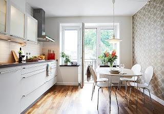 piccola cucina bianca immagine