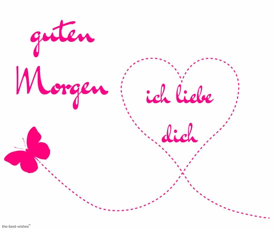 good morning i love you in german