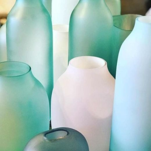 Frosted Sea Glass Vases