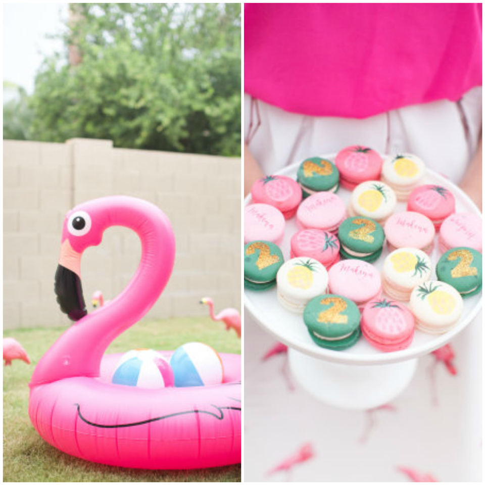 Maternité: Flamingo bday party