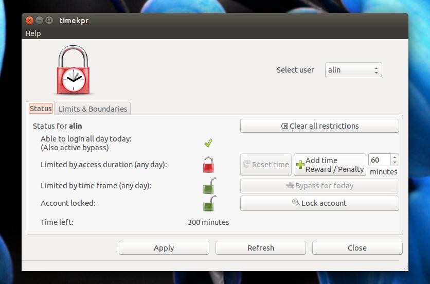 Install Timekpr (Parental Control App) In Ubuntu 17 04, 16 10, 16 04