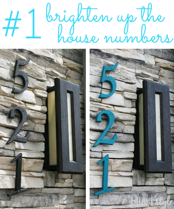 Painted house numbers