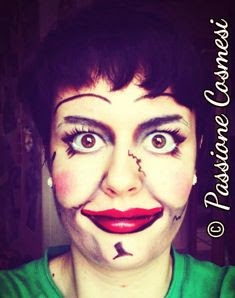 Trucco Annabelle Halloween.Passione Cosmesi Halloween Make Up La Bambola Annabelle