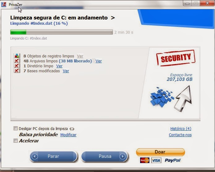 Privazer limpe seu Hd