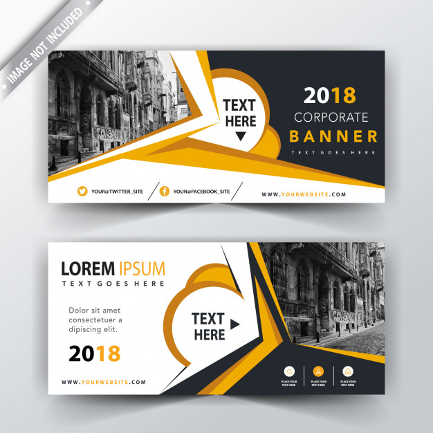 Back and font abstract header design Free Vector