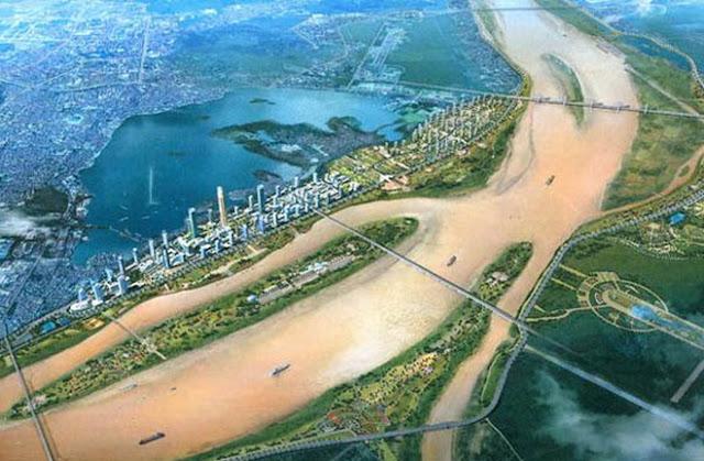 Quy hoạch khu đô thị hai bên bờ sông Hồng