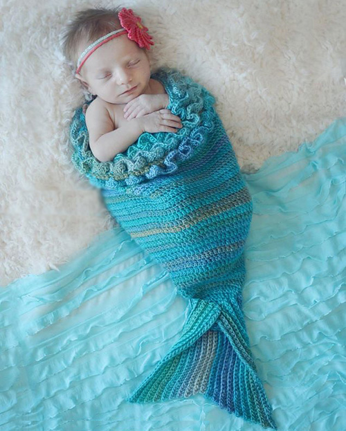 Mystic Mermaid Cocoon - Free Pattern