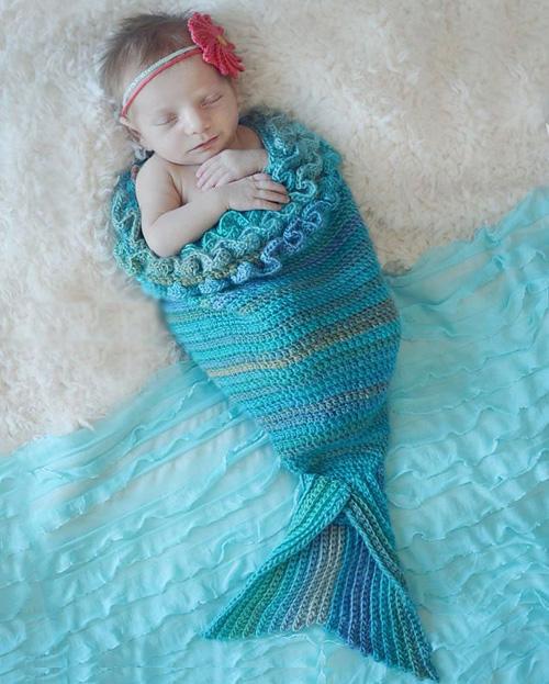 Mystic Mermaid Cocoon - Free Pattern