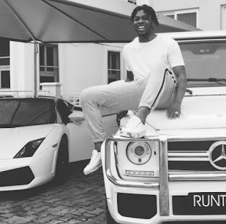Runtown pose with Mercedez Benz G53