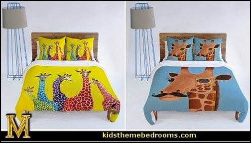 Fun and funky giraffe bedding