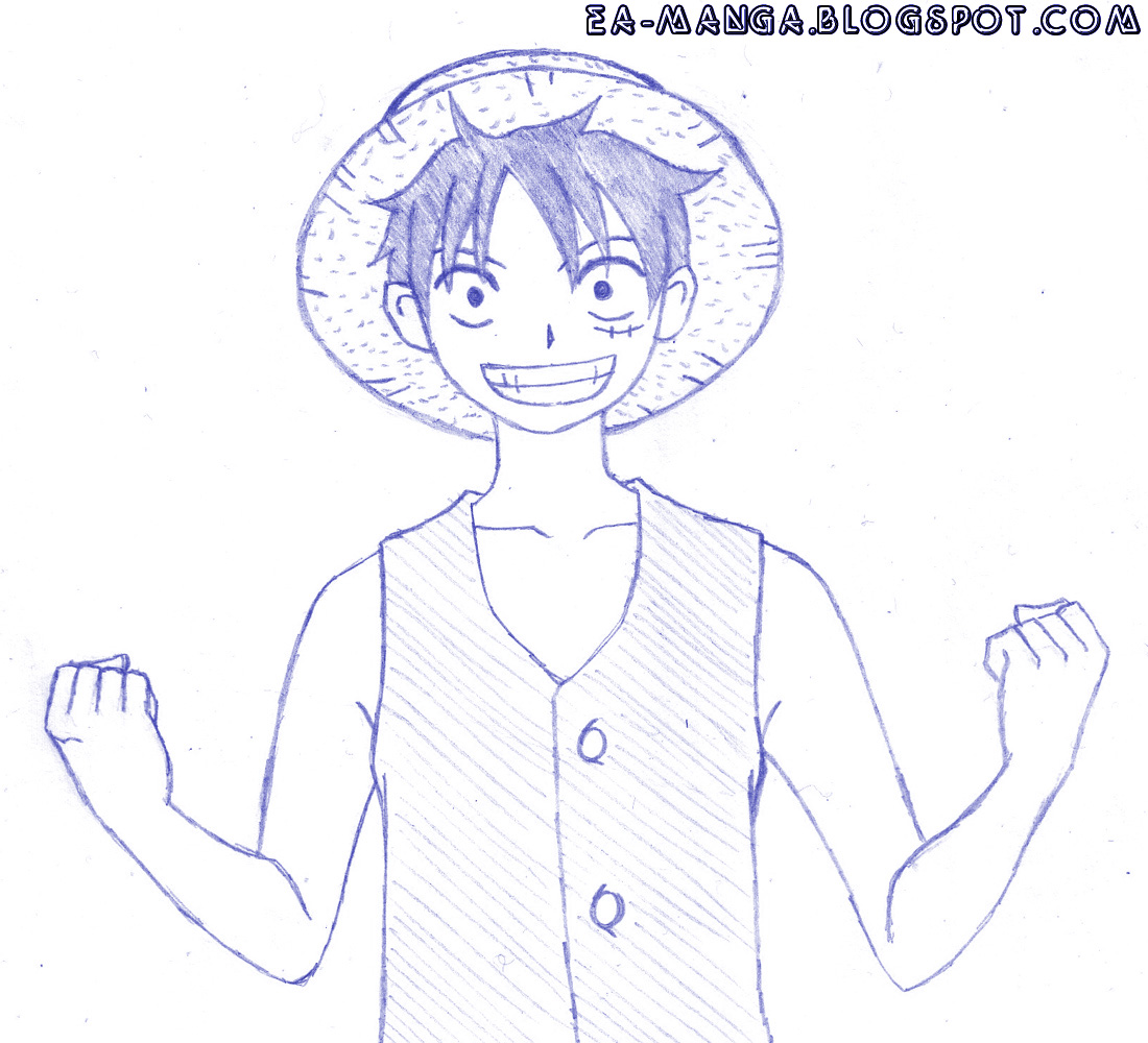 Cara Menggambar Monkey D Luffy Manga Council