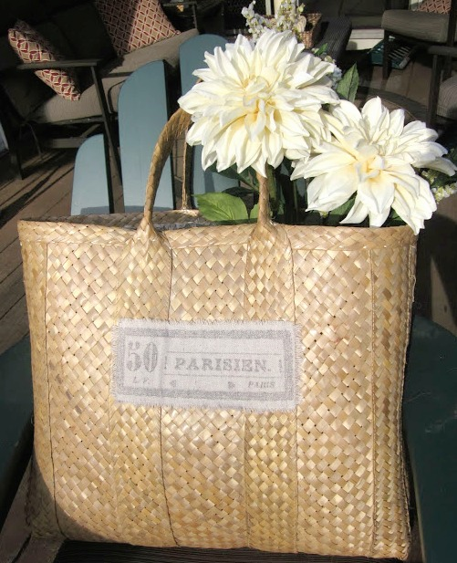 How to Easily Line and Decorate a Straw Market Basket