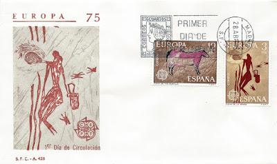 Sobre PDC del sello de Cueva de Tito Bustillo, 1975