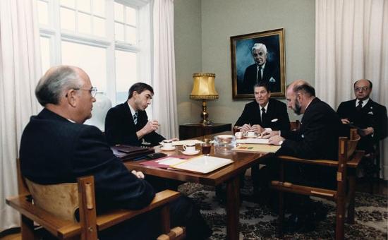 President Ronald Reagan at the Reykjavík Summit (October 11, 1986)