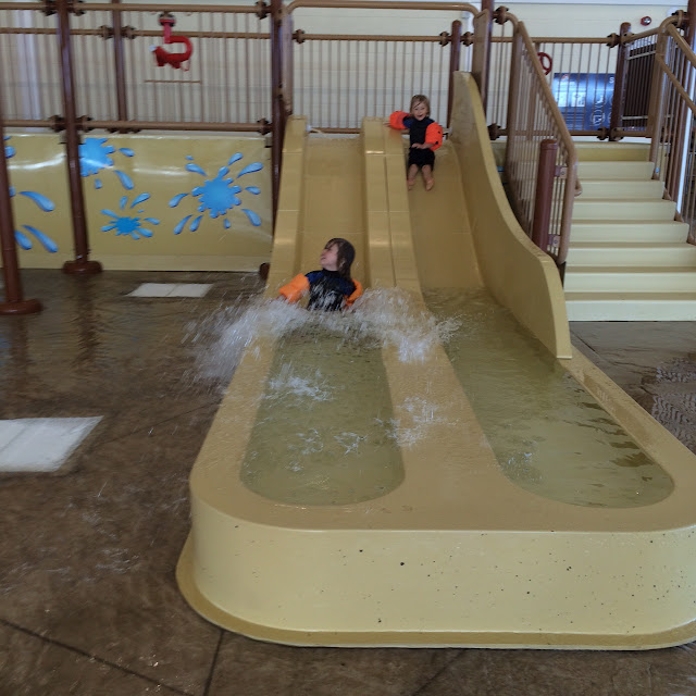 Small slides, alpamare waterpark Scarborough