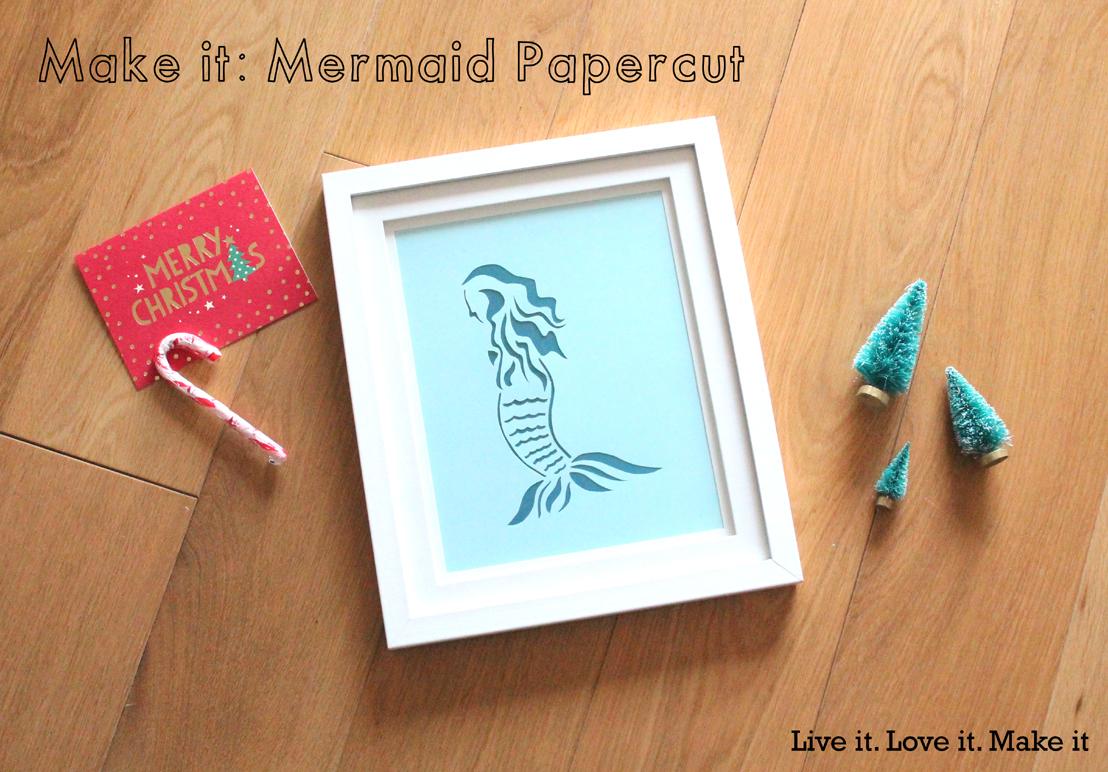 Make it: Mermaid Papercut with FREE PDF