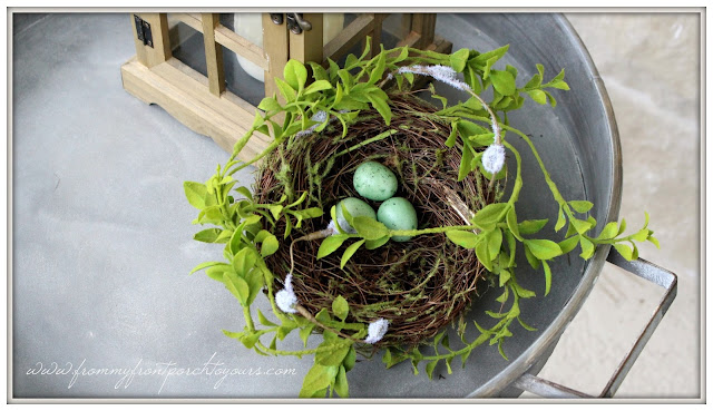 Farmhouse Front Porch-Birds Nest-Early Spring Porch Decor-From My Front Porch To Yours