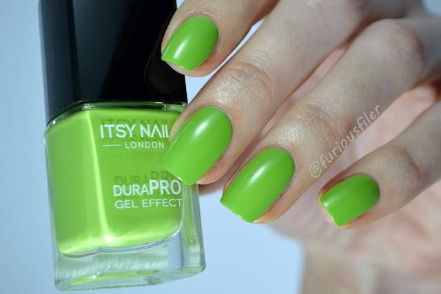 itsy nails green with envy creme swatch review
