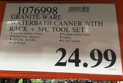 Deal for the Granite-Ware 8-piece Water Bath Canner Set at Costco