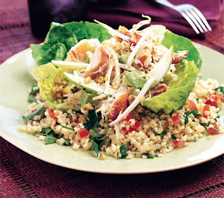 Bulgur, Crab and Avocado Salad Recipe
