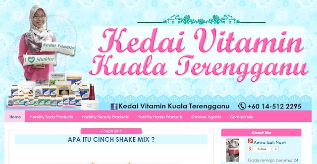 Template Blog Kedai Vitamin Kuala Terengganu, Shaklee, edit blog murah, design blog murah