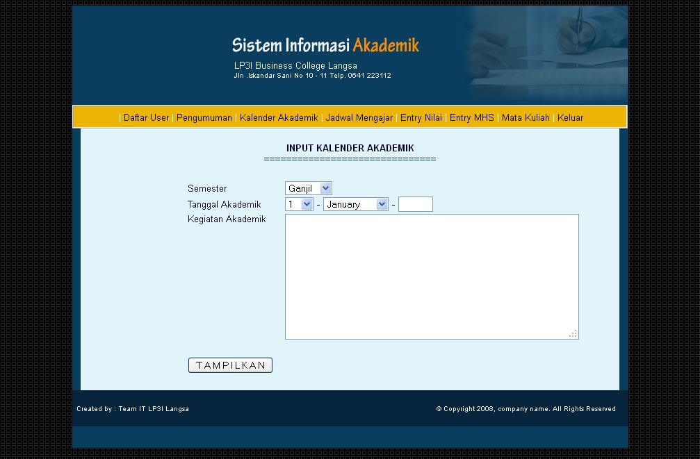 Sistem informasi akademik blog scriptaplikasi for Input keyword disini perbaris ya