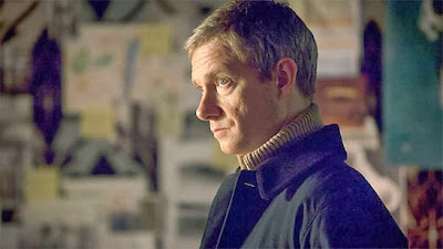 Martin Freeman as Dr John Watson in BBC Sherlock Christmas Episode Many Happy Returns Season 3 Prequel