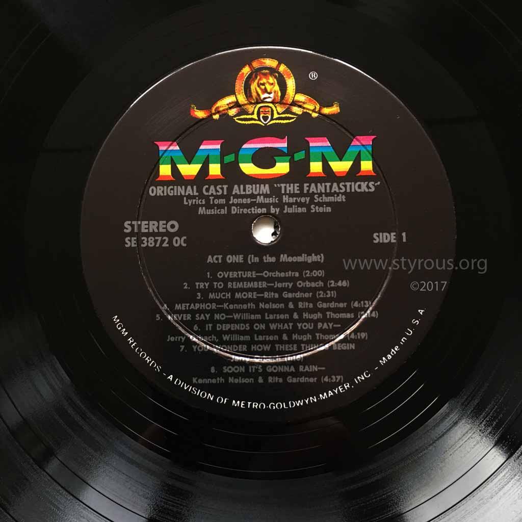 The Styrous 174 Viewfinder 20 000 Vinyl Lps 85 The Fantasticks
