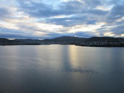 Vistas de Hobart desde el Tasman Bridge, Tasmania