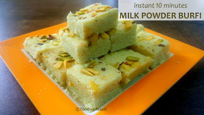 Instant Milk Powder Burfi
