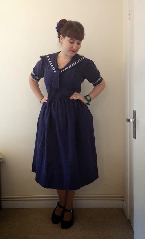 Fancy Dresscapades A Vintage Sailor Dress By Laura Ashley