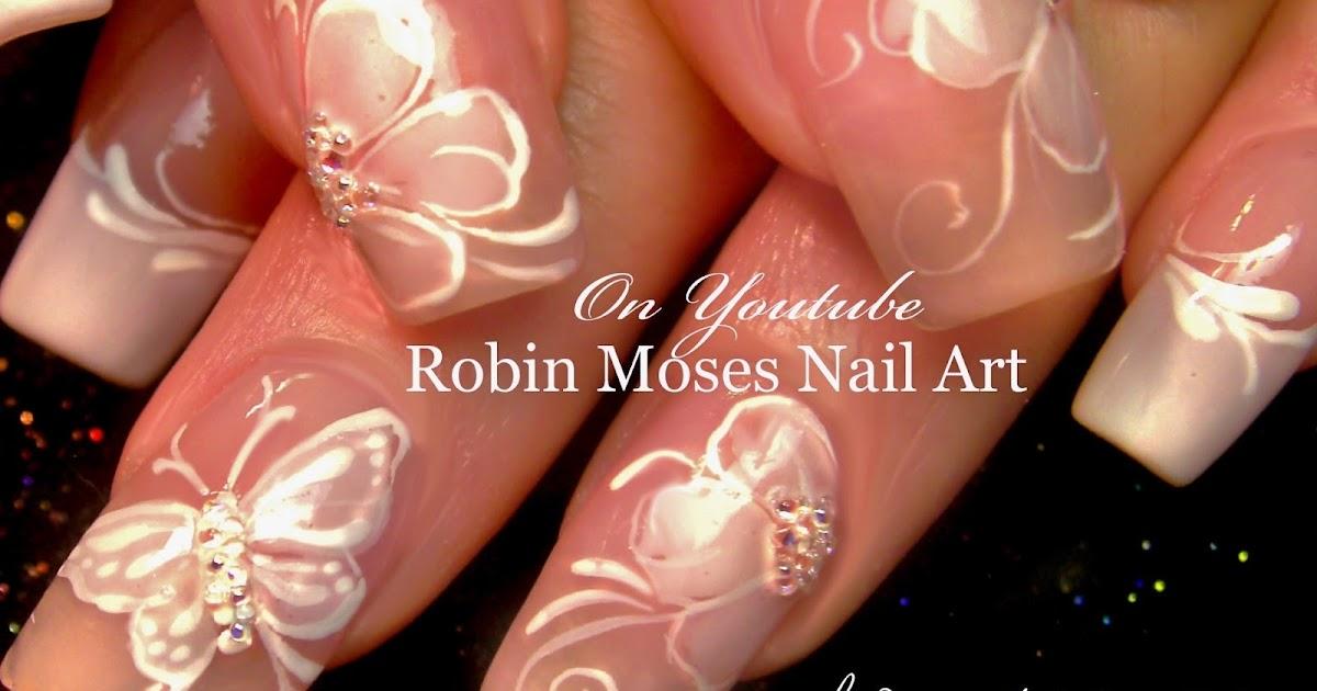 "Robin Moses Nail Art: Elegant White Flower Nails ""wedding ..."