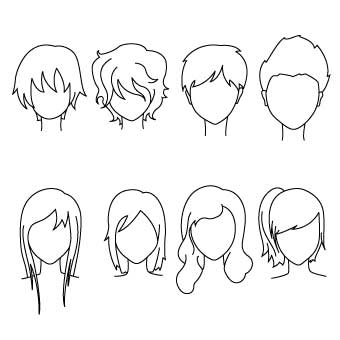 Drawing Common Hairstyles For Kids We Draw Kids Childrens - Drawing-for-kids