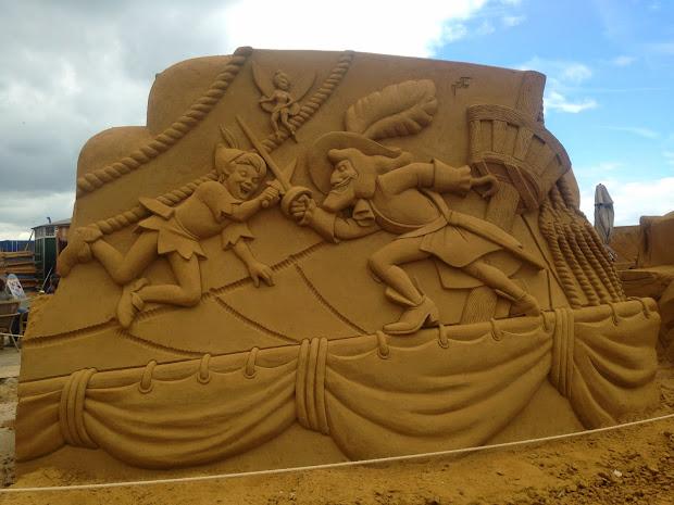 Belgium Bust Carved Sand Oostende