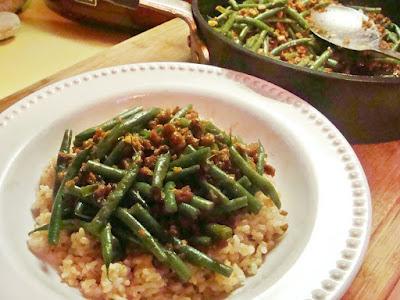 BLAST FROM MY PAST: GREEN BEAN OKAZU-- VEGAN-STYLE