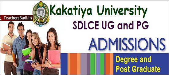 KU SDLCE Degree, PG Admissions 2017,KU Distance PG Degree admissions 2017