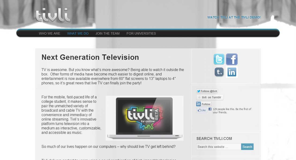 Watch Free Live HDTV stream broadcast on laptop, tablet
