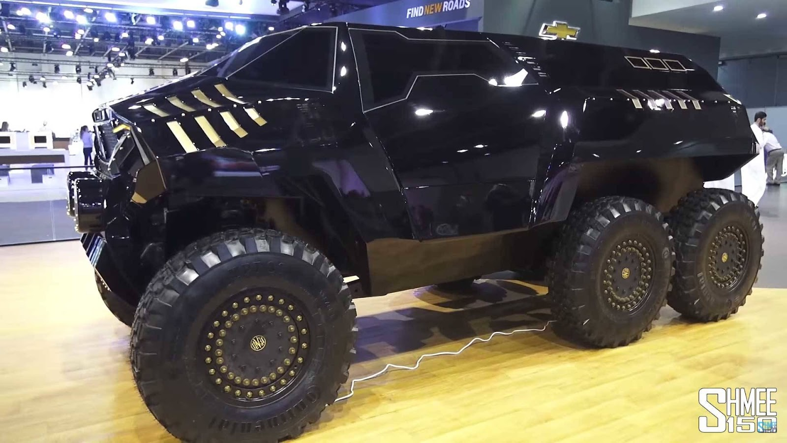 Devel Has Created An Insane Six Wheeled Concept To Rival Merc S 6x6 Carscoops