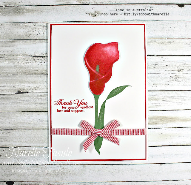 Get this beautiful Lasting Lily stamp set for FREE until March 31, 2019. See my web site for all the details.