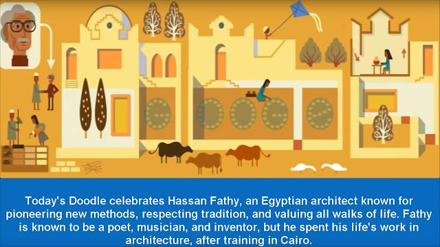 غوغل تحتفل بالمعماري الشهير المصري حسن فتحي