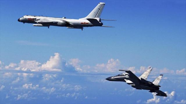 Aviones espías de EEUU siguen a 10 cazas chinos cerca de Taiwán